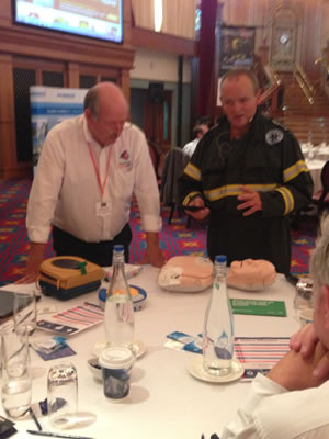 Kevin at Conference doing CPR & AEDTalk