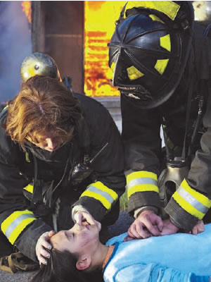 Fire Fighters doing CPR